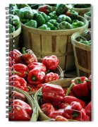 Bushels Of Green And Red Spiral Notebook