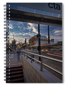 Busy Chicago View Spiral Notebook