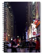 Busy Sidewalks Of The City Spiral Notebook