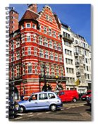 Busy Street Corner In London Spiral Notebook