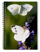 Butterflies - Cabbage White - Enjoyed The Togetherness Spiral Notebook