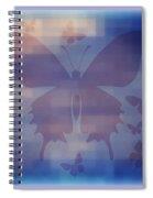 Butterflies In Blue Spiral Notebook