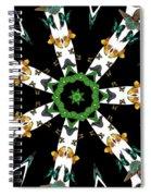 Butterflies Mania Kaleidoscope Spiral Notebook