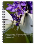 Butterfly - Dueteronomy 31 6 Spiral Notebook