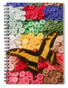 Butterfly And Buttons Spiral Notebook