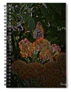Butterfly And Flowers Spiral Notebook