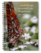 Butterfly Friendship Card Spiral Notebook