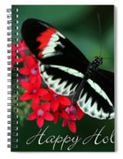 Butterfly Holiday Card Spiral Notebook