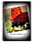 Butterfly Note Card Spiral Notebook