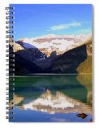 Butterfly Phenomenon At Lake Louise Spiral Notebook