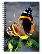 Butterfly Tai Chi On Lantana Luscious Lemonade Spiral Notebook