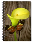 Butterfly With Calla Lily Spiral Notebook