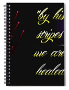 By His Stripes Spiral Notebook