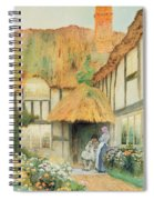 By The Cottage Door Spiral Notebook