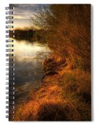 By The Evening's Golden Glow Spiral Notebook