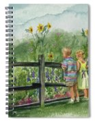 By The Garden Fence  Spiral Notebook