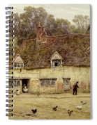 By The Old Cottage Spiral Notebook