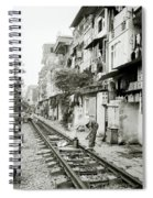 By The Tracks In Hanoi Spiral Notebook