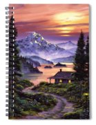 Cabin On The Lake Spiral Notebook