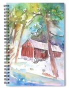 Cabine In The Troodos Mountains Spiral Notebook