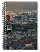 Cable Car In Grenoble  Spiral Notebook