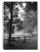Cades Cove Tennessee In Black And White Spiral Notebook