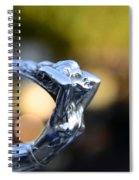 Cadillac Goddess Hood Ornament Spiral Notebook