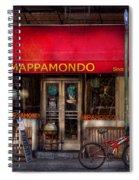 Cafe - Ny - Chelsea - Mappamondo  Spiral Notebook