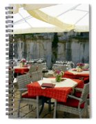 Cafe In Split Old Town Spiral Notebook