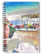 Cafe On Agios Georgios Beach Spiral Notebook