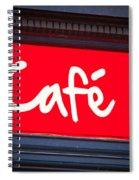 Cafe Sign Spiral Notebook