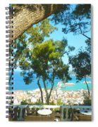 Cafe Terrace At Bohali Overlooking Zante Town Spiral Notebook