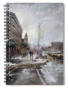 Caffe Aroma In Winter Spiral Notebook