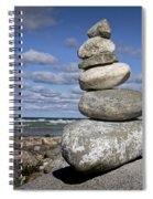 Cairn At North Point On Leelanau Peninsula In Michigan Spiral Notebook