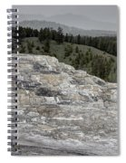 Calcite Bench - Mammoth Hot Springs Spiral Notebook