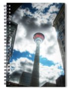 Calgary Tower Hdr Spiral Notebook