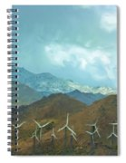 California Desert In Winter Spiral Notebook