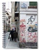 Calle Alvaro De Bazan Graffiti Spiral Notebook