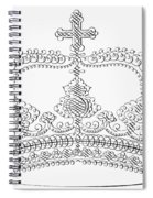 Calligraphy Crown Spiral Notebook