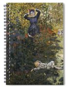 Camille And Jean In The Garden At Argenteuil  Spiral Notebook