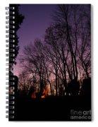 Camp Fire Sunset Spiral Notebook