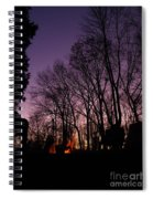 Camp Fire Sunset Spiral Notebook