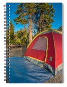 Camping In The Forest Spiral Notebook