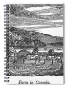 Canada: Farm, C1820 Spiral Notebook