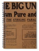 Canada: One Big Union, 1919 Spiral Notebook