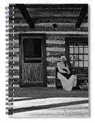 Canadian Gothic Monochrome Spiral Notebook