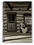 Canadian Gothic Sepia Spiral Notebook