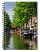 Canal Scene In Amsterdam Spiral Notebook
