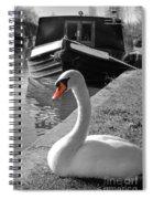 Canal Swan Spiral Notebook