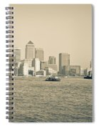 Canary Wharf Cityscape Spiral Notebook